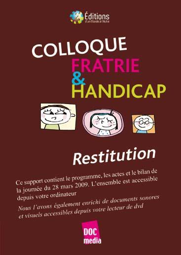 Visuel Restitution du colloque Fratrie & Handicap